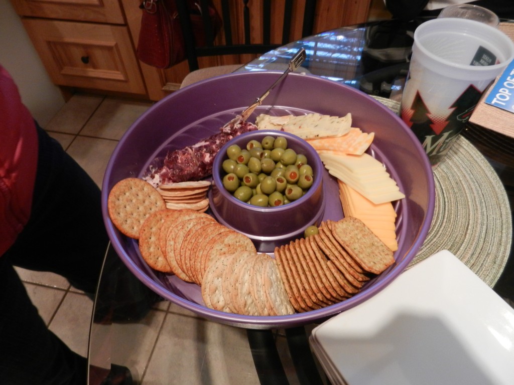 cheese and olive tray