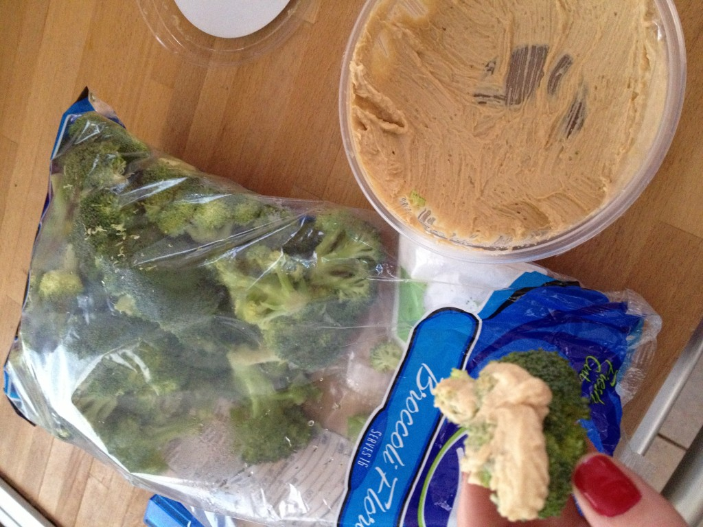 broccoli and hummus