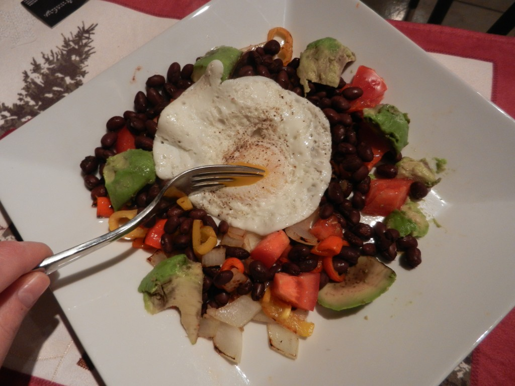 veggies with egg