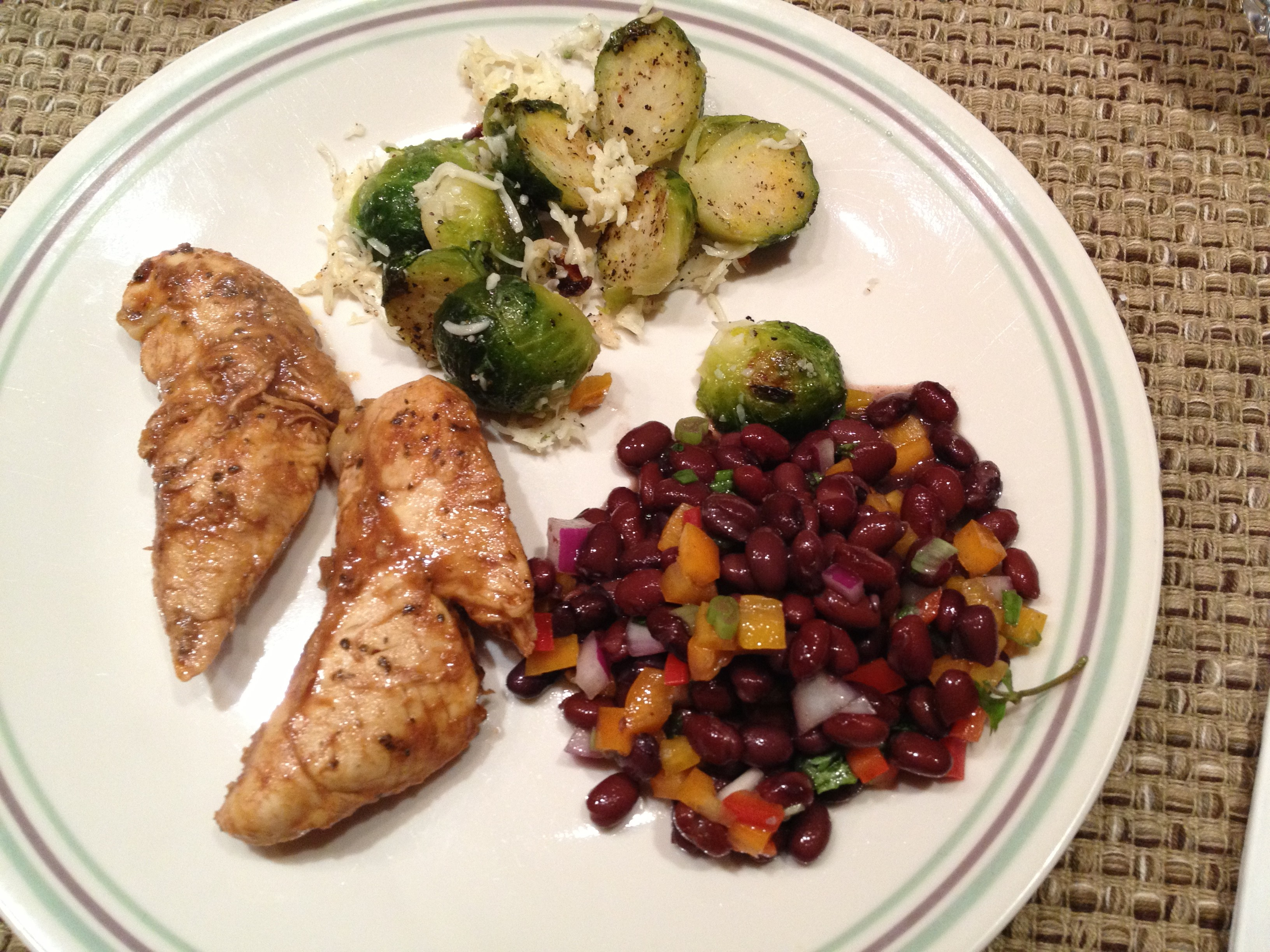 chicken black beans brussels sprouts