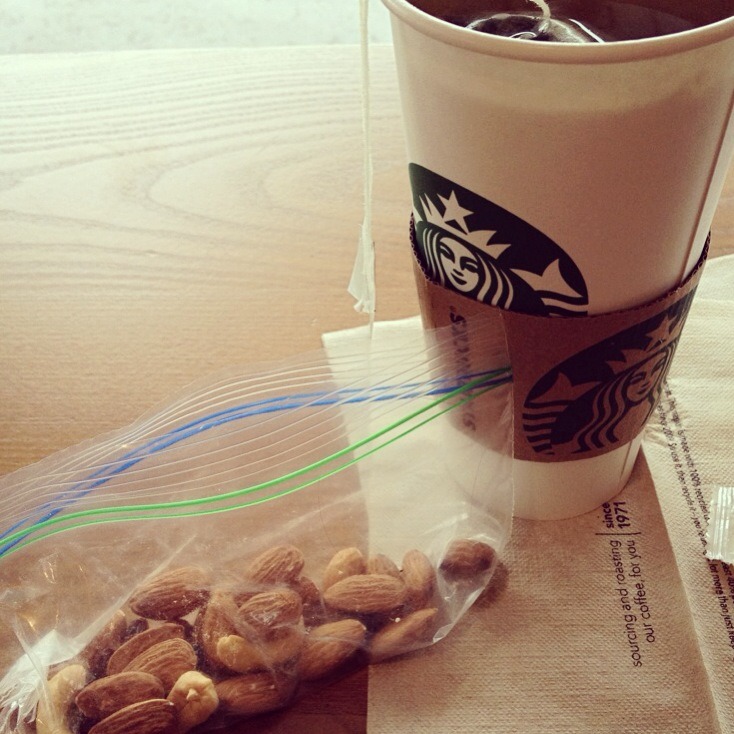 starbucks and a snack