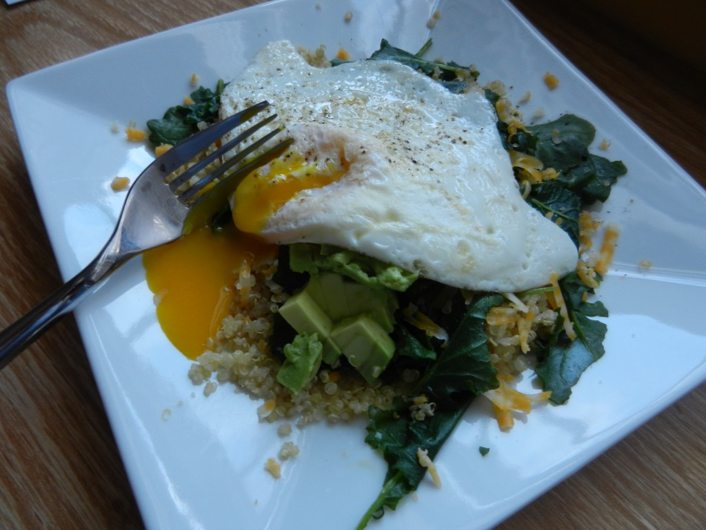 quinoa and egg breakfast